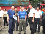 交通部科技司副司长任锦雄参观指导我公司橡胶沥青生产设备